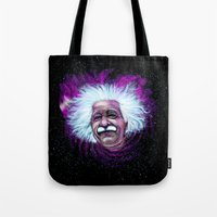 Albert Einstein Nebula Tote Bag