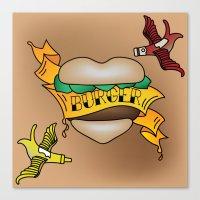 Burger Tattoo Canvas Print