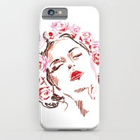 iPhone & iPod Case featuring Flower girl by Lorène Russo illustration