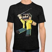 Block Sighted - Minecraft Avatar Mens Fitted Tee Tri-Black SMALL