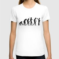 Evolution To Mobile  Womens Fitted Tee White SMALL