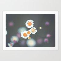 Retro Daisy Art Print