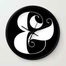 Inverse Ampersand Wall Clock