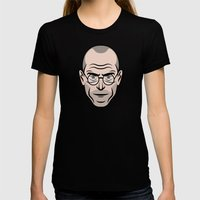 STEVE JOBS Womens Fitted Tee Black SMALL