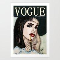 Ashley Dzerigian In VOGU… Art Print