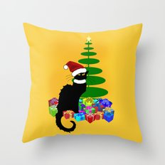 Christmas Le Chat Noir … Throw Pillow