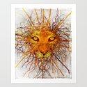 Lion Drip Art Print