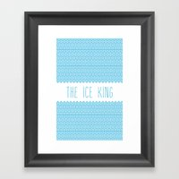 The Ice King Pattern...m… Framed Art Print