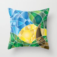 Mosaic Sunrise Throw Pillow