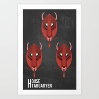 Game Of Thrones House Ta… Art Print