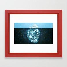 Hermit Iceberg Framed Art Print