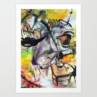 Oil Spill Art Print