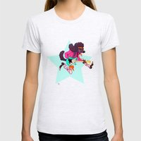 Pup Rocks Womens Fitted Tee Ash Grey SMALL