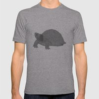 Turtle Illustration B/W Mens Fitted Tee Athletic Grey SMALL