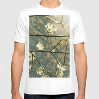 Spring tapestry Mens Fitted Tee White SMALL