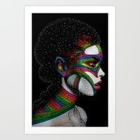 Cosmo girl Art Print