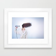 hair comic wind 4 Framed Art Print