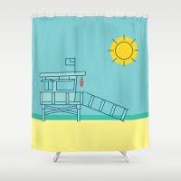 The Beach Shower Curtain