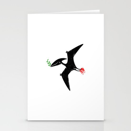 PTERODACTYL OF PEACE Stationery Card