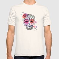 Day_of_the_Dead_Skull Mens Fitted Tee Natural SMALL