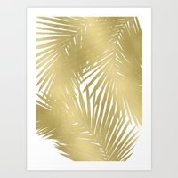 Palms Gold Art Print