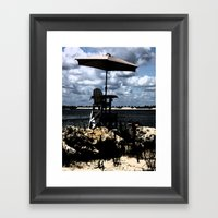 Look Out Framed Art Print