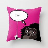 Pop Icon - Bonobo 2 Throw Pillow