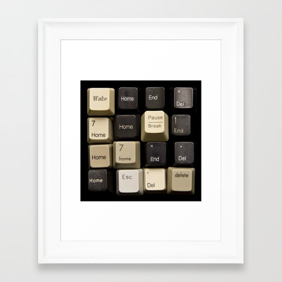 Custom Keyboard Framed Art Print