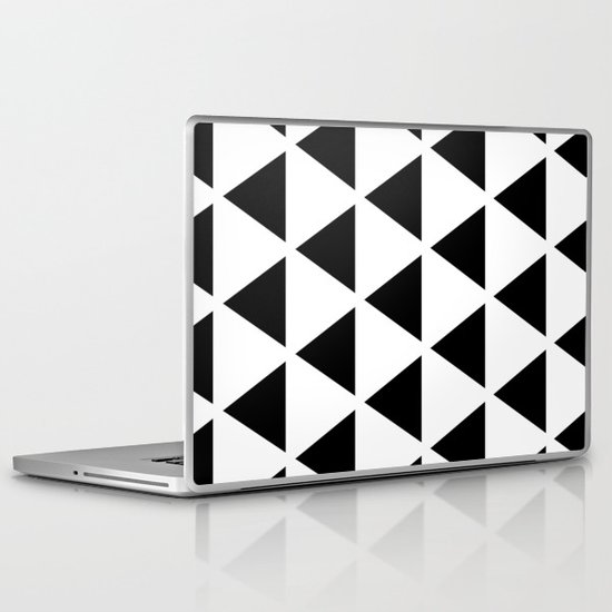 Sleyer Black on White Pattern Laptop & iPad Skin