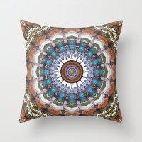 Earth Tones Mandala Throw Pillow