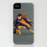 iPhone 4s & iPhone 4 Cases featuring Batgirl by taryndraws