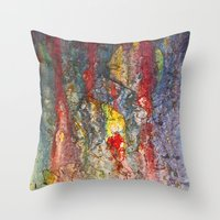 Color Waterfall  Throw Pillow