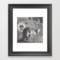 The Night Is A Black Bea… Framed Art Print