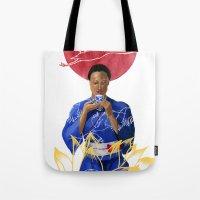 Asian Lotus Tote Bag