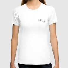 STRONZA Womens Fitted Tee White SMALL