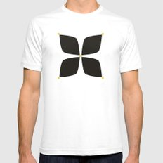 Black Jasmine SMALL Mens Fitted Tee White