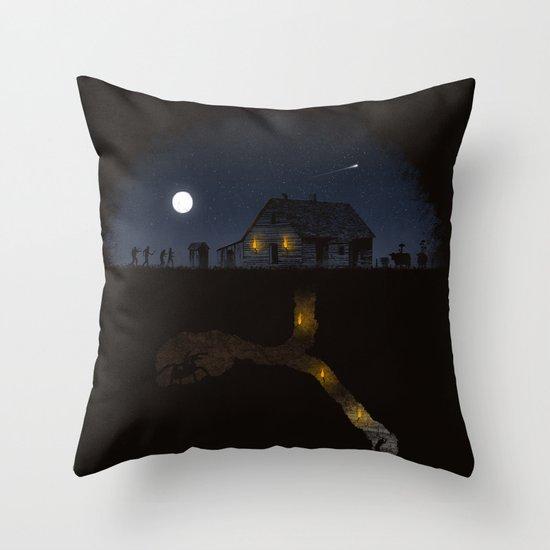 Minecraft: Always Digging Throw Pillow