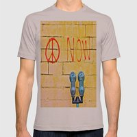 Peace Now! Mens Fitted Tee Cinder SMALL