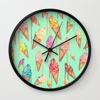 melted ice creams Wall Clock