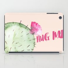 Hug me- typography and watercolor  iPad Case
