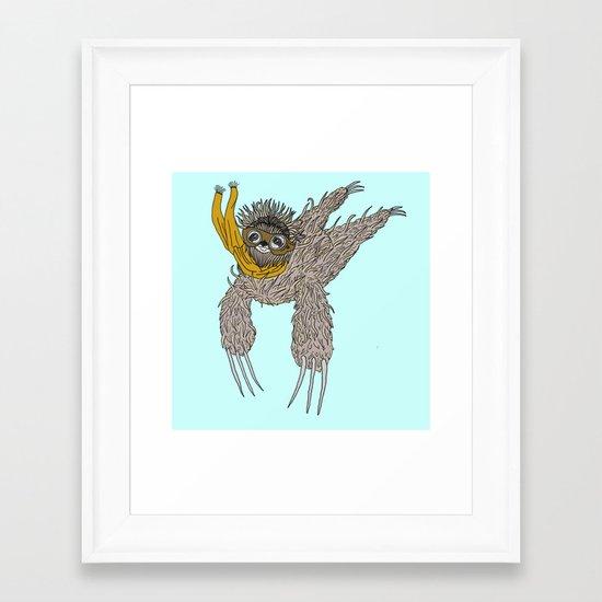 Impulsive Sloth Framed Art Print