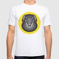 Elephant Mens Fitted Tee Ash Grey SMALL