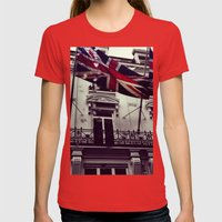 Raise the flag Womens Fitted Tee Red SMALL