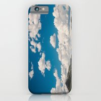 iPhone & iPod Case featuring Puffy White Clouds with Blue Sky and Green Meadow Hills by Kevin N. Murphy Photography