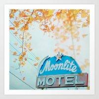 Meet Me At The Moonlite Art Print