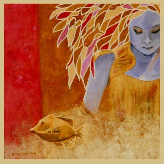 intermediate world - autumn Art Print