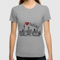 I love Auckland  Womens Fitted Tee Athletic Grey SMALL