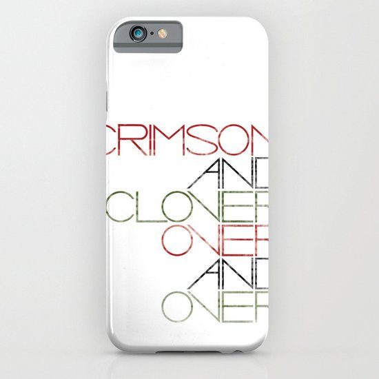 Crimson and Clover Over and Over iPhone & iPod Case