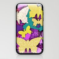 iPhone & iPod Skin featuring Fancy Butterflies by LebensART