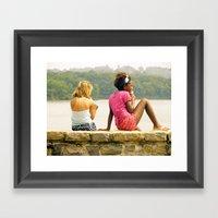 A Day At The Lake. Framed Art Print